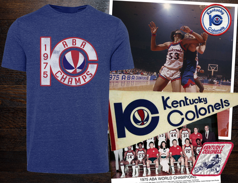 1975 Kentucky Colonels 'ABA' Champs' Tee - Streaker Sports