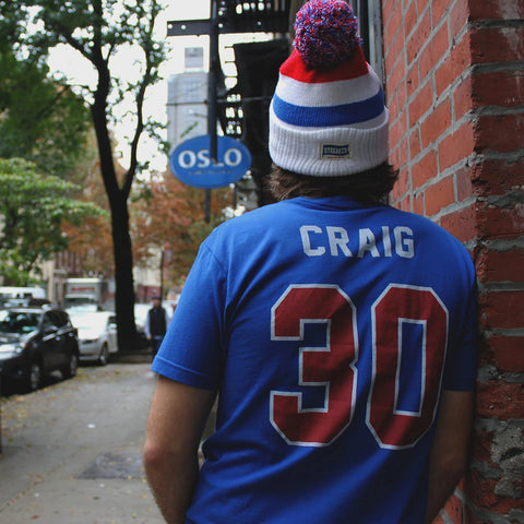 Jim Craig 1980 Miracle Jersey Tee Away - Streaker Sports