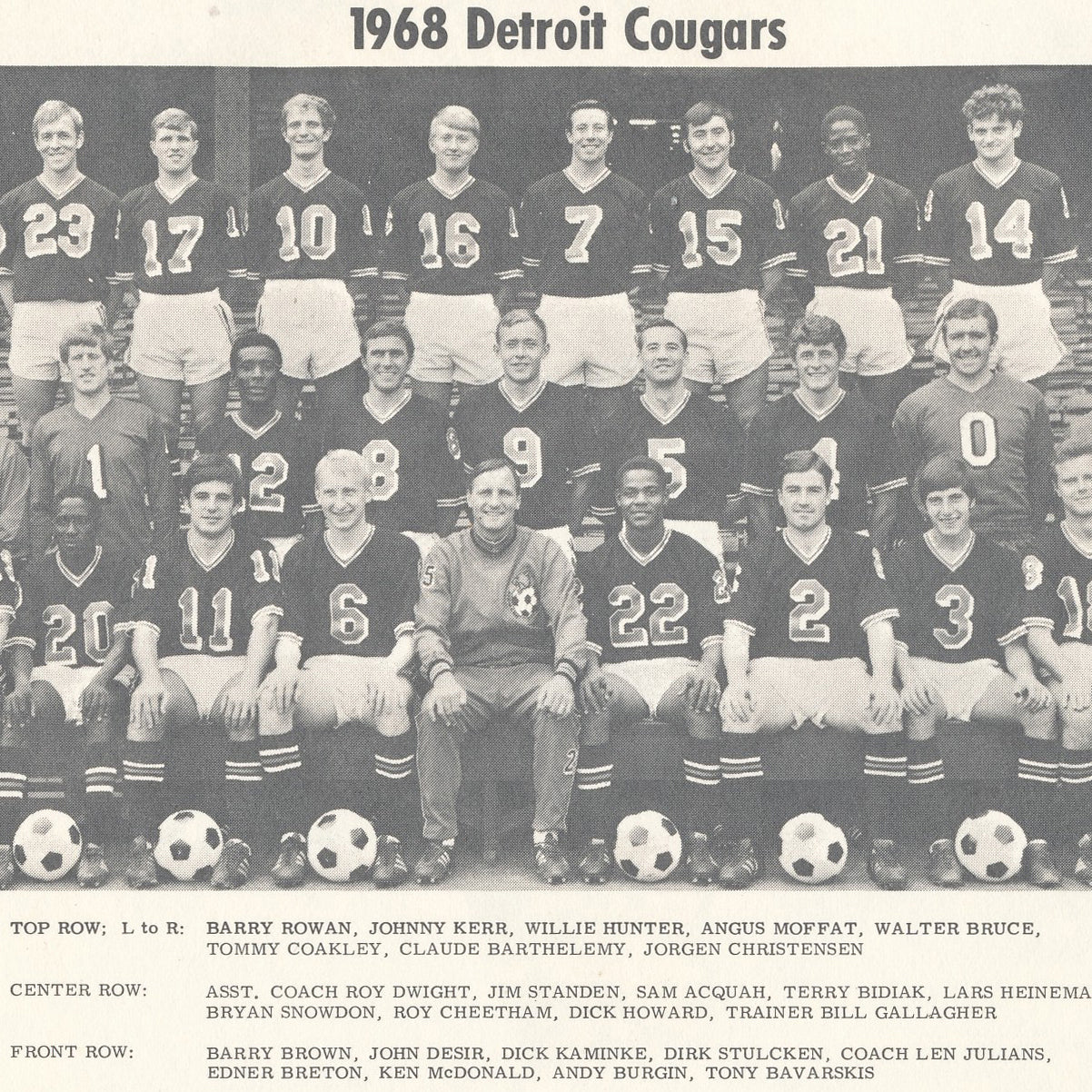 1967 Detroit Cougars Tee - Streaker Sports