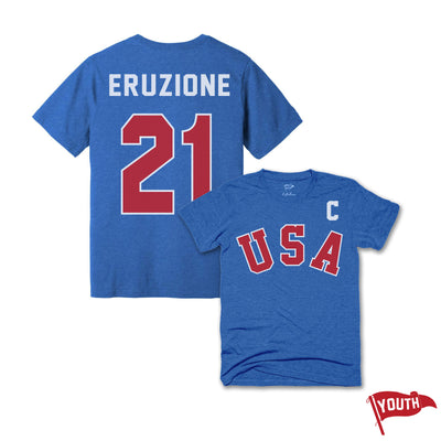 1980 Mike Eruzione Youth Jersey Tee - Streaker Sports