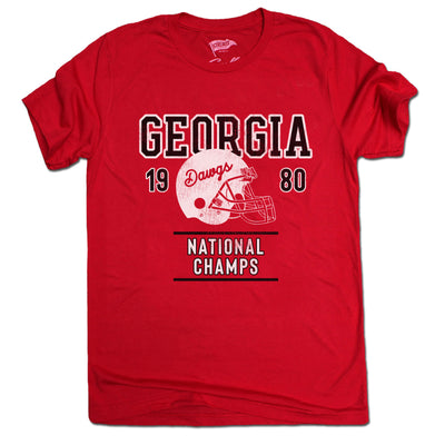 1980 Georgia National Champs Football Tee - Streaker Sports