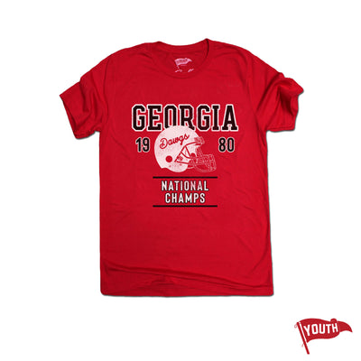 1980 Georgia National Champs Youth Football Tee - Streaker Sports