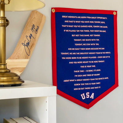 Streaker Sports x Oxford Pennant Herb Brooks Speech Stadium Banner - Streaker Sports