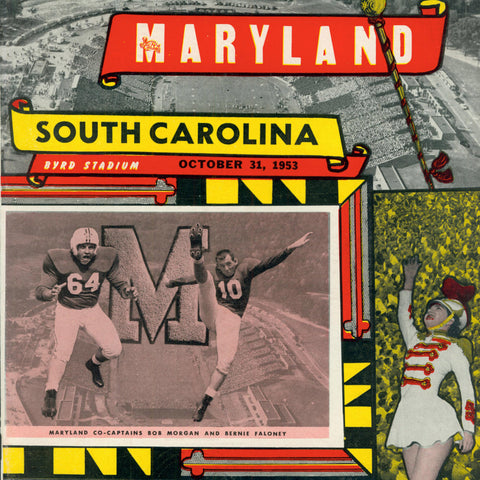 1953 Maryland National Champs Football  Tee - Streaker Sports