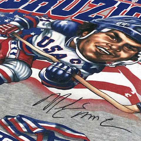 1980 Mike Eruzione Miracle On Ice™ Caricature Tee - Streaker Sports