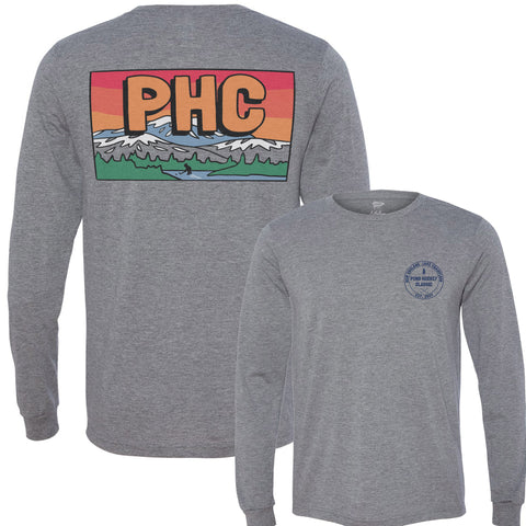 Pond Hockey Classic ™ Grey Long Sleeve Shirt - Streaker Sports