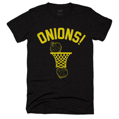 ONIONS! Black & Gold Hoop Tee - Streaker Sports