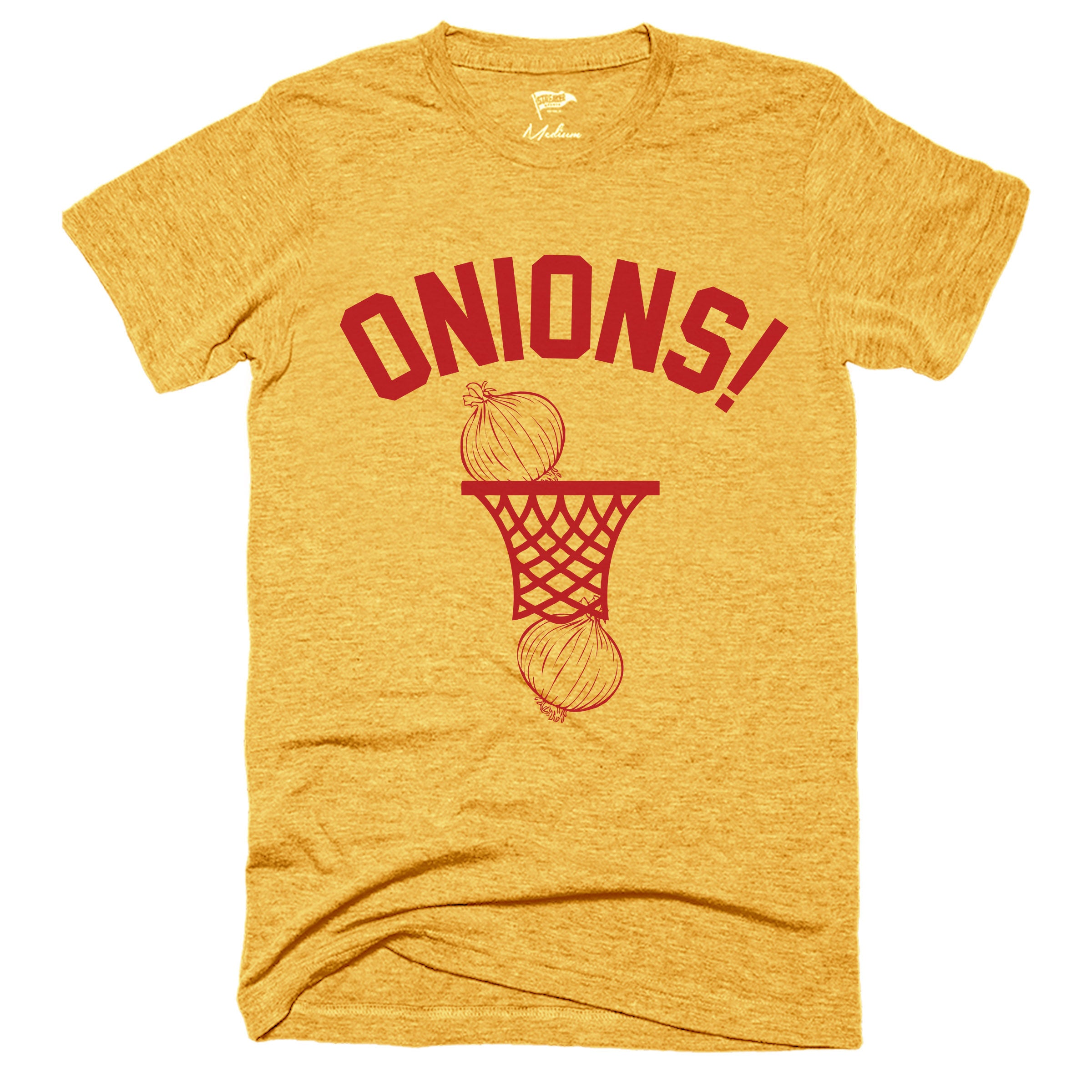 ONIONS! Gold & Red Hoop Tee - Streaker Sports