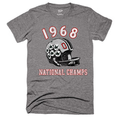 1968 Buckeyes National Champs Football Tee