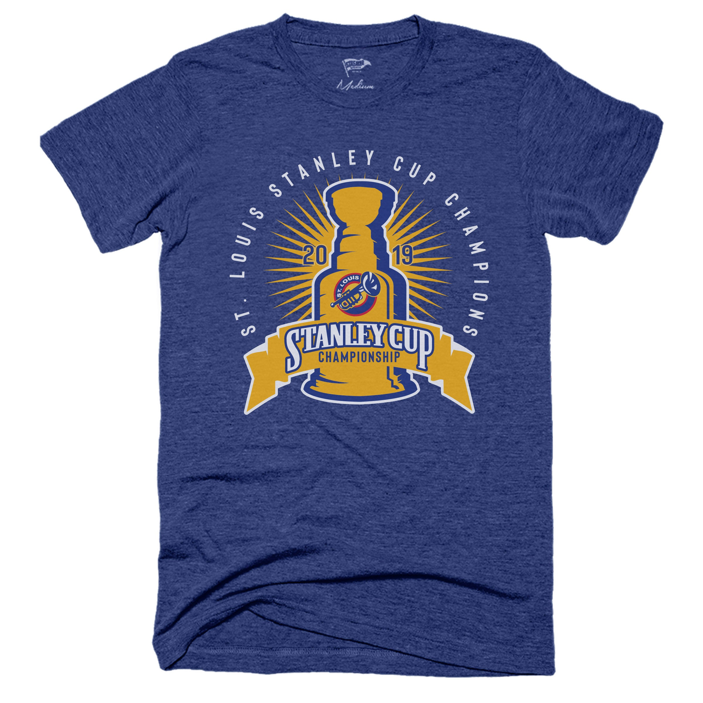 Louis Blues Stanley Cup Champions Champs 2019 T shirt Tee Brand New St