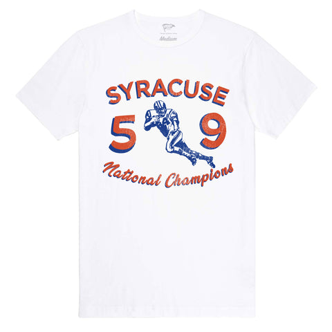 1959 Syracuse National Champs Football Tee - Streaker Sports