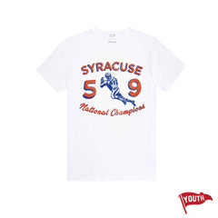 1959 Syracuse National Champs Youth Football Tee - Streaker Sports