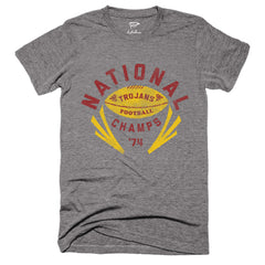 1974 Trojans National Champs Football Tee - Streaker Sports