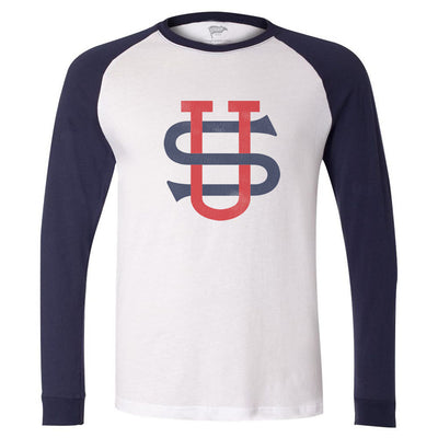 US Tour of Japan Crest Long Sleeve Baseball Shirt - Streaker Sports