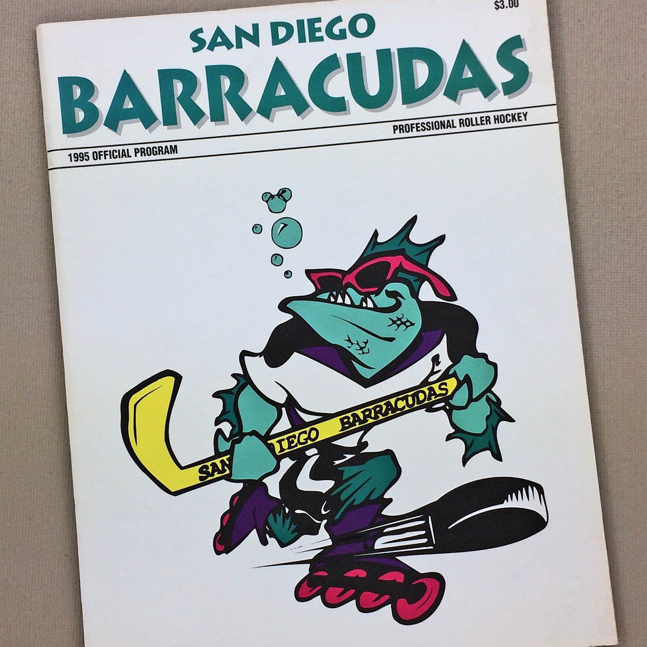 1993 San Diego Barracudas Tee - Streaker Sports
