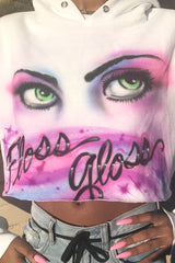 ONLY HAVE EYES 4 FG AIRBRUSH HOODIE