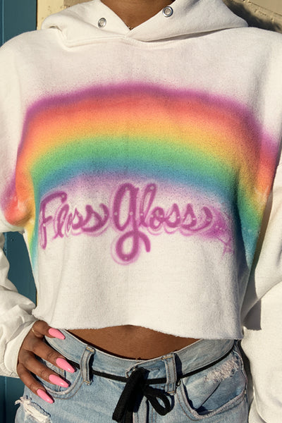 MAKE IT RAINBOW AIRBRUSH HOODIE