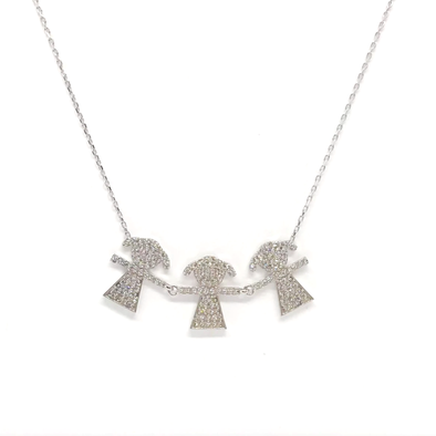 Three Girls Necklace