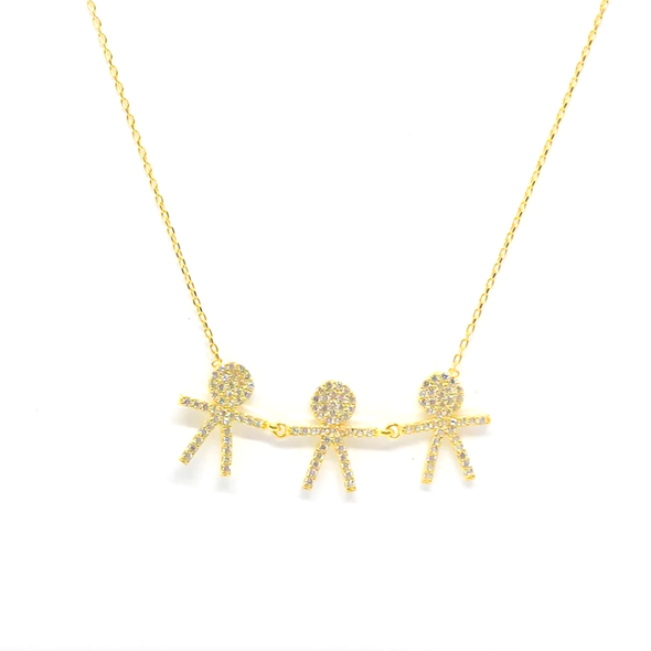 Three Boys Necklace