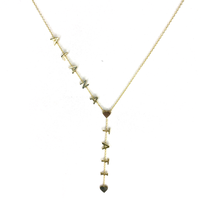 Name Lariat Necklace