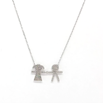 Boy & Girl Necklace