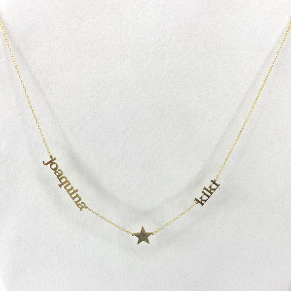Names with Star Necklace