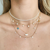 White Crystal Tennis Choker