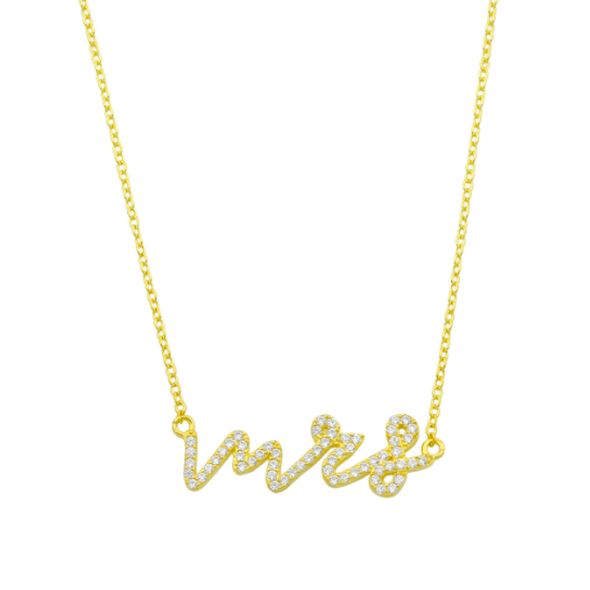 Shimmer Cursive Name Necklace