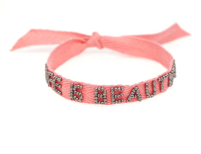 Life is Beautiful Ribbon Bracelet