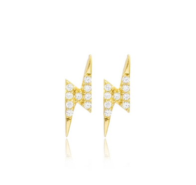 Lightning Stud Earrings