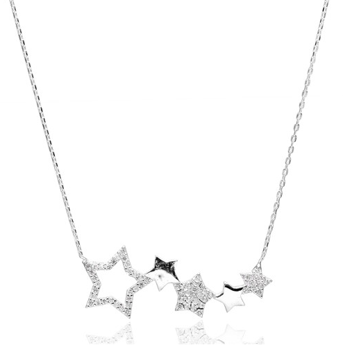 Cluster Stars Necklace