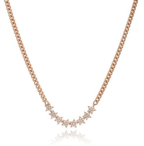 Glam Stone Stars Necklace