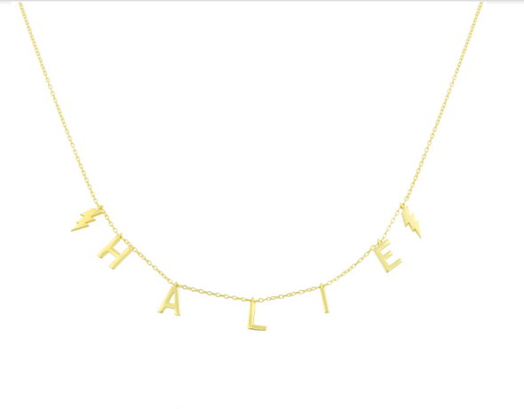 Lighthing Name Necklace