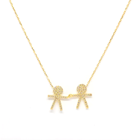 Two Boys Necklace