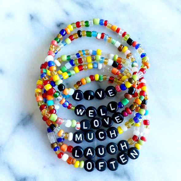 Live Love Laugh Bracelets Set