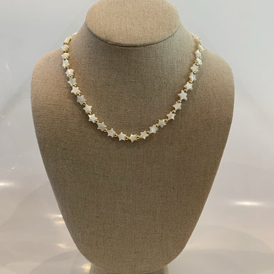 Mother Pearl Stars Necklace