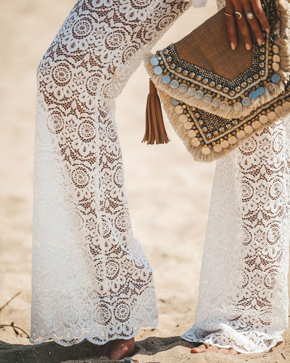 Crochet Lace Cover Up Pants