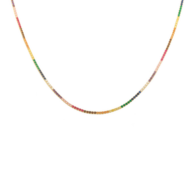 Rainbow Crystal Tennis Choker