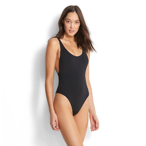 Seafolly - Active Retro Tank Maillot One Piece - Black