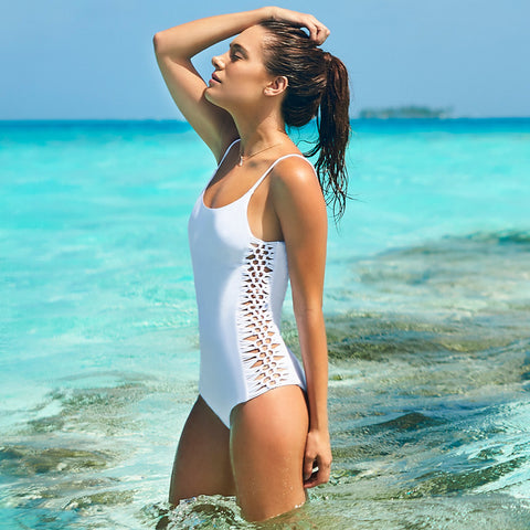 Malai - Shore Bow Blanc One Piece