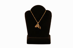 Two Tone Whale Tail Diamond Necklace