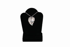 Dark Kalo Leaf Necklace