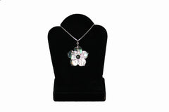 Mother of Pearl Dogwood Flower Necklace