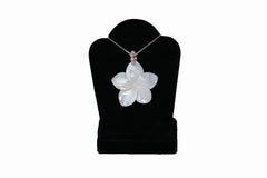 Mother of Pearl Large Plumeria Necklace