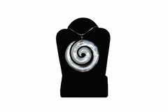 Mother of Pearl Round Swirl Necklace