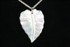 White Kalo Leaf Necklace