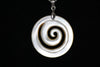 Mother of Pearl White Swirl Necklace
