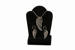 Angel Wing Necklace and Earring Set