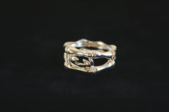 Bamboo with Leaves Ring