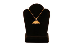 Diamond Lined Whale Tail Necklace